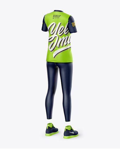 Download Women S Sport Kit Back Half Side View In Apparel Mockups On Yellow Images Object Mockups Clothing Mockup Design Mockup Free Shirt Mockup
