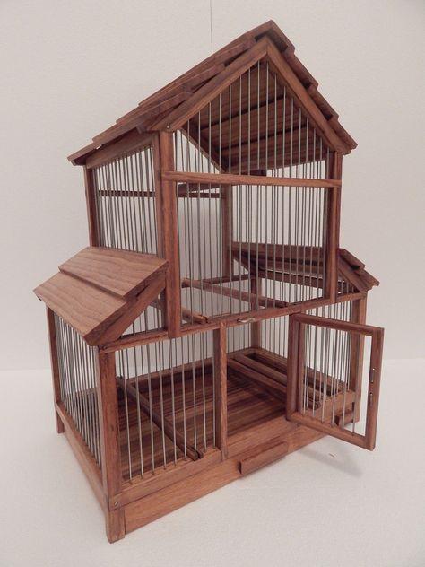 Small Single Bird Beautiful Decorative Handmade Wooden Birdcage Ebay Kus Kafesi Dekorasyon Kus Kafesi Kus Kushane