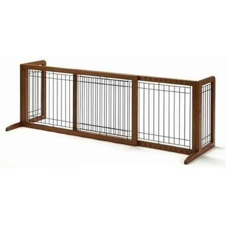 Cerco de Madera expandible Pet Guardrail Safety Protection Divider Gate Cubierta de Seguridad Interior Pet Gate