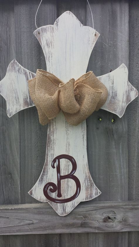 Hey, I found this really awesome Etsy listing at https://www.etsy.com/listing/177018861/distressed-chalk-painted-cross-with