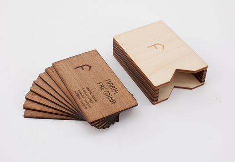 Ausgefallene Visitenkarten Visitenkarten Aus Holz