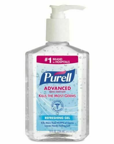 Purell Advanced Instant Hand Sanitizer Refreshing Gel Pump Bottle