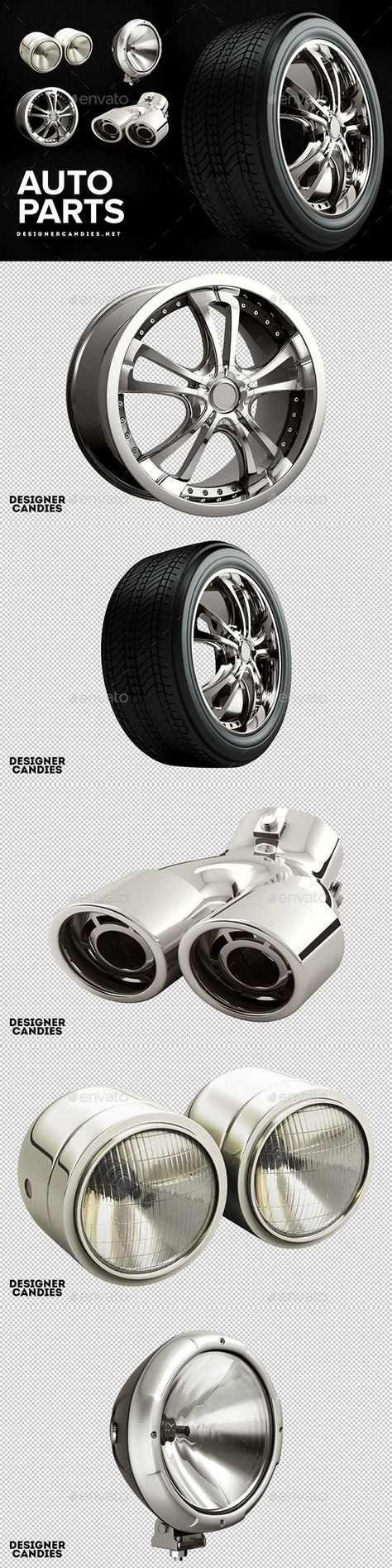 3D Graphics & Renders - Auto Parts Pack
