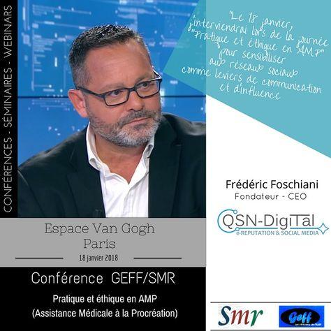*** Journée thématique GEFF/SMR – Pratique et éthique en AMP *** – Intervention de Frederic Foschiani,CEO de QSN-DigiTal