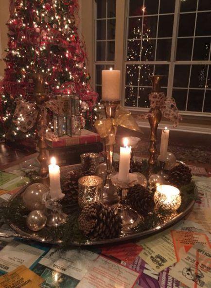 Pin By Sarah Beesley On Holidays Tray Decor Christmas Christmas Coffee Table Decor Christmas Tray