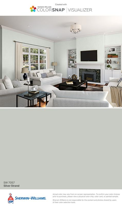 I Found This Color With Colorsnap Visualizer For Iphone By Sherwin Williams Silver Strand Sw 7057 Sherwin Williams Paint Colors