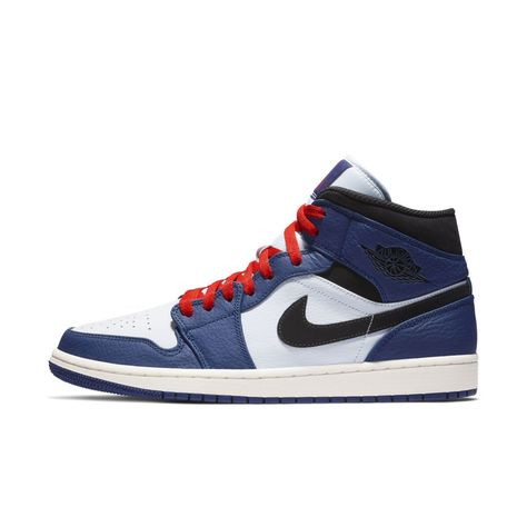 fec2223ea3ee 2018 Air Jordan 1 Mid Deep Royal Blue Black-White-University Red 852542-400  in 2019