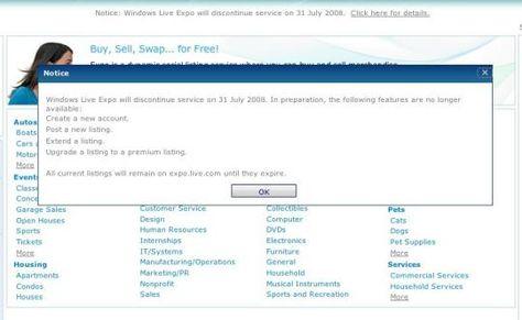 Windows Live Expo set to expire next month | The Social - CNET News