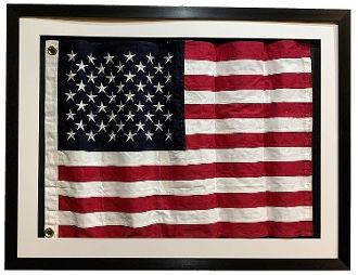 Framed Size 42x32 Framed Under Real Glass Waved Flag In 3d Shadow Box Framed Real Cloth Cotton Embroidered American Fla Framed Usa Flag Framed Flag Frame Usa