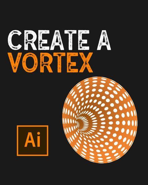 Easily Create A Vortex In Illustrator (1-Minute Tutorial)