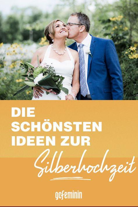 Silberhochzeit Ideen Inspirationen Fur Den 25 Hochzeitstag Silberhochzeit Hochzeitstag Silberne Hochzeit