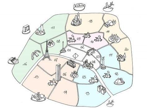 Pin By Madame Kort On La Famille Et La Communaute Paris Map