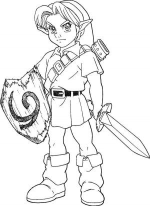 Legend Of Zelda Link Coloring Pages - GetColoringPages.com | 412x300