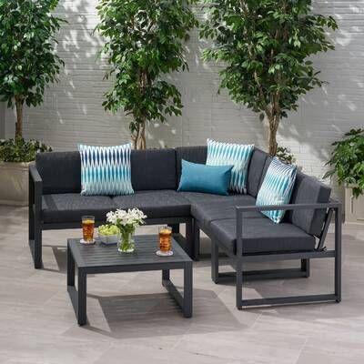 Mirando 4 Piece Sofa Set With Cushions Reviews Allmodern Outdoor Sofa Sets Sofa Set Seating Groups