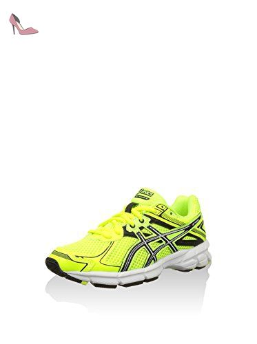 chaussure asics femme jaune