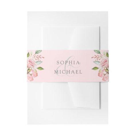 Bountiful Roses   Elegant Pink Flowers Wedding #blushpink #flowers #elegant #greenleaves #romantic #vintage #trendy #watercolor #wedding #pretty
