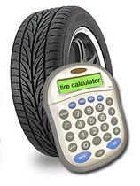 Very helpful Tyre size calculator.