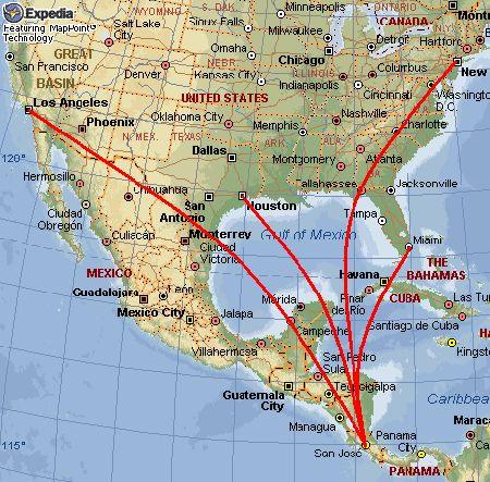 Costa Rica Usa Map.Flights Travel Usa To Costa Rica Medical Tourism Tourism Travel