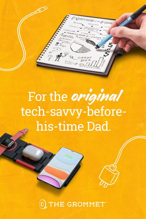 For the Dad that's always on the cutting edge and has to have the next best thing, check out amazing tech and gadget gifts you've never seen at The Grommet this Father's Day.
