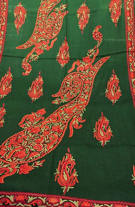 Exotic India Stole from Srinagar with Ari Hand-Embroide