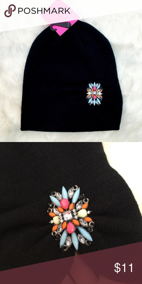 8a43c4b966ff5 Betsey Johnson beanie Betsey Johnson jeweled beanie in black. New with tag. Betsey  Johnson Accessories Hats