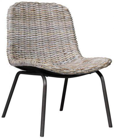 Block Chisel White Wash Kubu Rattan Dining Chair With Iron Legs Dining Chairs Chair Rattan Dining Chairs