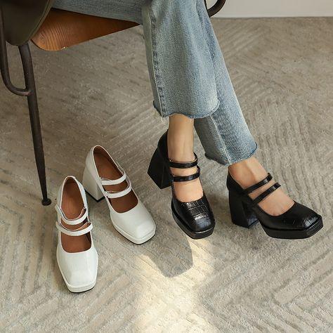 20061BLB61777 (11) Dr Shoes, Me Too Shoes, Sock Shoes, Aesthetic Shoes, Aesthetic Clothes, Aesthetic Outfit, Mode Vintage, Vintage Shoes, Pretty Shoes