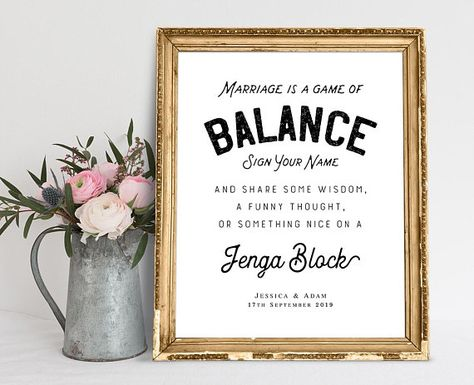 Marriage Is A Game Of Balance Wedding Signs Wedding Quotes