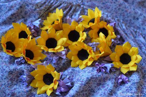 Sunflower origami easy to do | Origami diagrams, Creative origami ... | 315x473