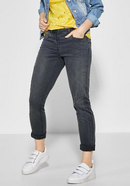 Comfort fit Jeans mit Crinkles auf den Oberschenkeln