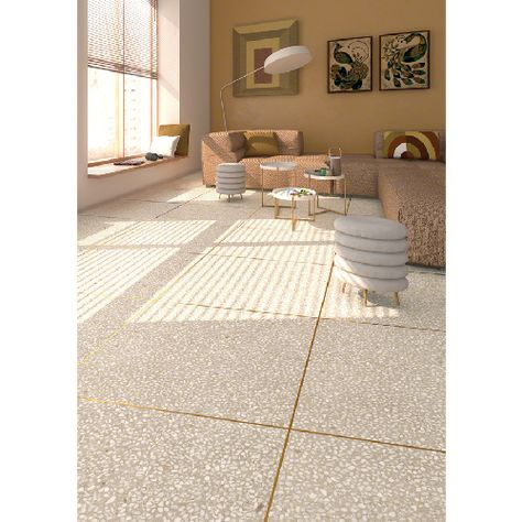 Carrelage Imitation Granito Terrazzo 60x60 Cm Portofino Crema