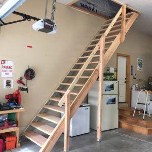 Adding Stairs To Garage Attic Attic Renovation Garage Attic Storage Attic Remodel