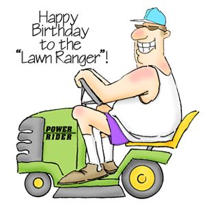 The Lawn Ranger - Unmounted Rubber Stamp