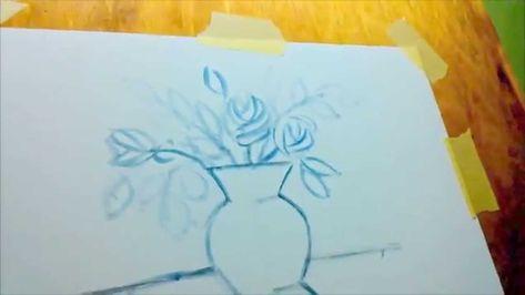 Apprendre Pas A Pas Vase De Fleure A La Peinture A L Huile 02 Step By Step Painting Drawings Art
