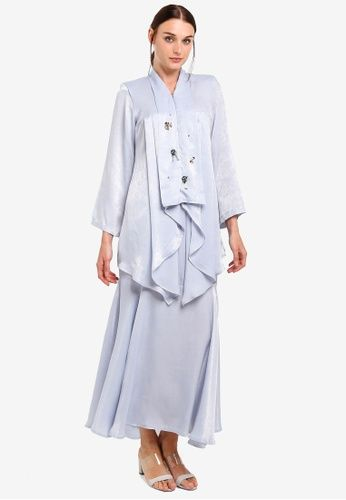 Widuri Kurung From Lagendas In Blue Model Pakaian Hijab Model Pakaian Baju Kurung