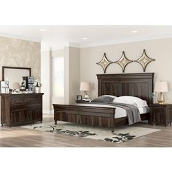 Winston Porter Shenk Standard 4 Piece Bedroom Set White Wood
