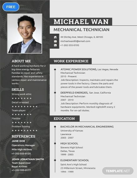 Free Mechanic Resume Engineering Resume Templates Job Resume