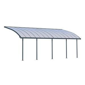 Palram Olympia 10 Ft X 20 Ft Grey Bronze Patio Cover Awning 704575 The Home Depot Covered Patio Grey Patio Covered Pergola