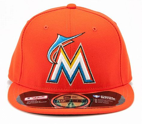 wide varieties get cheap new images of Miami Marlins Authentic Road Performance 59FIFTY On-Field Cap by ...