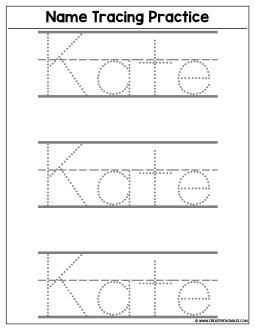 Custom Name Tracing Worksheet Preview Create Custom Printables