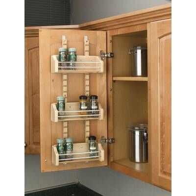 12 Spice Jar Rack Set Door Mounted Spice Rack Shelves Kitchen Cabinets Wall Mounted