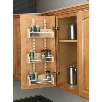 12 Spice Jar Rack Set Door Mounted Spice Rack Shelves Kitchen Cabinets Wall Mounted