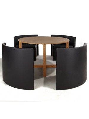 Hideaway Dining Table and 4 Chairs Set Dining table sets