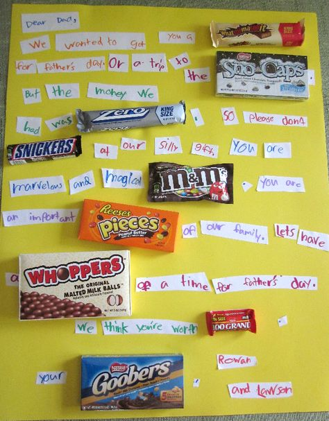 DIY project by Ta-Da! -- candy bar Father's Day poster