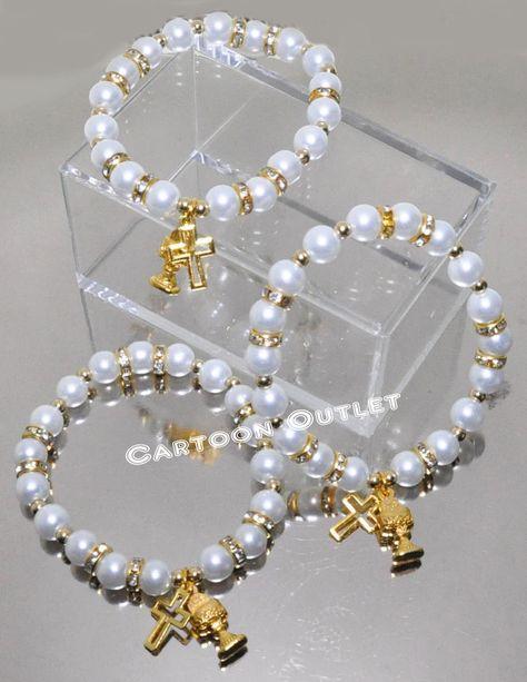 12 Caliz Bracelet First Communion Favors Primera Comunion Recuerdos