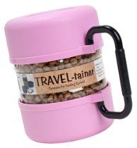Gamma2 Pet Travel Tainer Bowl, Pink
