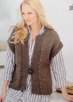 Veste sans manche femme a tricoter