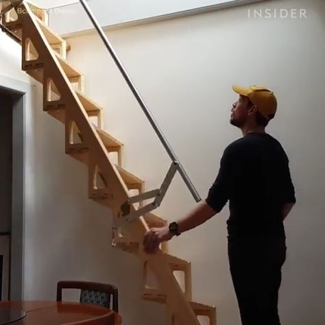 The stairs seem perfect for a tiny home
