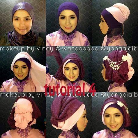 Tutorial Hijab Segi Empat Tumpuk Edukasi Lif Co Id