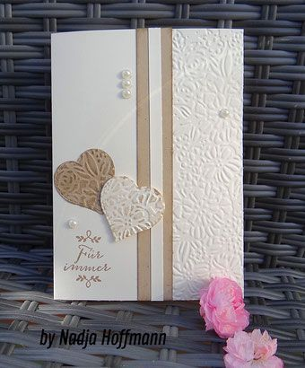 Stampin'Up simple wedding card used materials and dimensions below: s